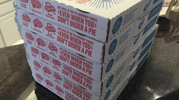 Stack of Domino's Pizza Boxes