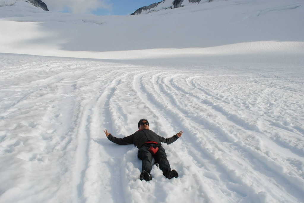 Snow Angels on a Glacier
